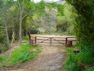Silverado Canyon gate