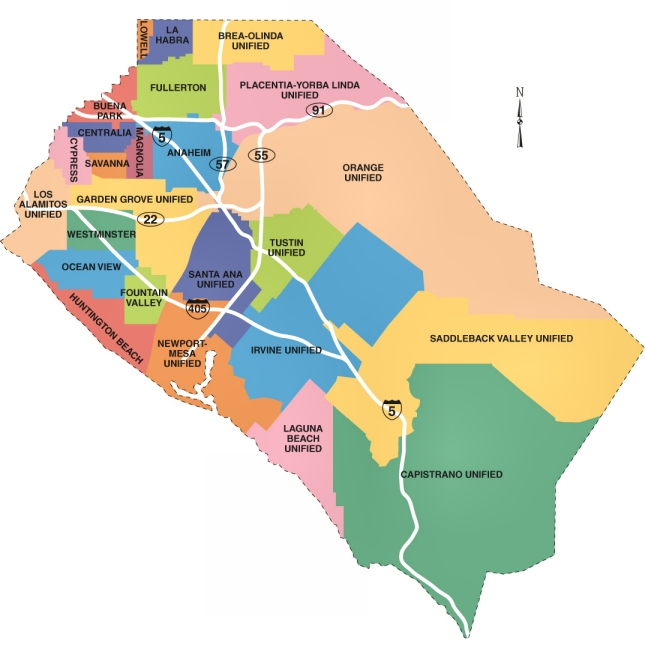 Map Of Orange County Ca City Information